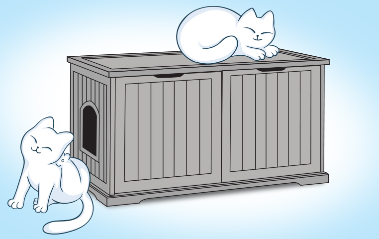 Litter Box Furniture Review Washroom Bench Hacks For Cats